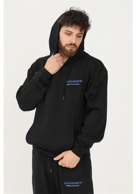 Black men's hoodie by romance with logo embroidery on the front ROMANCE | Sweatshirt | R03008FEC1199