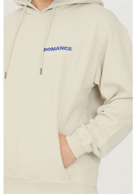 Sand men's hoodie by romance with logo embroidery on the front ROMANCE | Sweatshirt | R03008FEC140