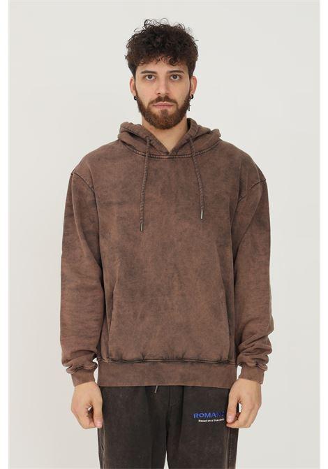 Rust men's hoodie by romance with maxi print on the back ROMANCE | Sweatshirt | R03015FEC1660