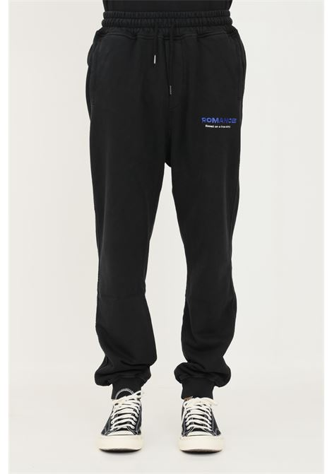 Black men's trousers by romance, casual model with contrasting logo ROMANCE | Pants | R07007P4C1199