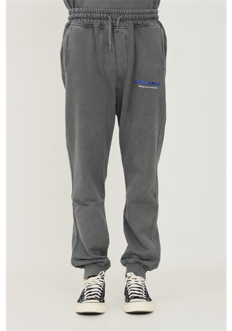 Grey men's trousers by romance, casual model with logo embroidery on the front ROMANCE | Pants | R07013P4C1150