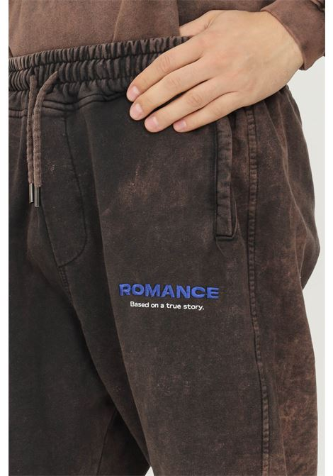 Rust men's trousers by romance, casual model with logo embroidery on the front ROMANCE | Pants | R07013P4C1660