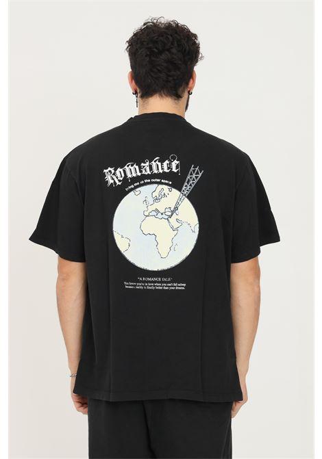 Black men's t-shirt by romance with maxi print on the back, short sleeve ROMANCE | T-shirt | R08009TSC1199