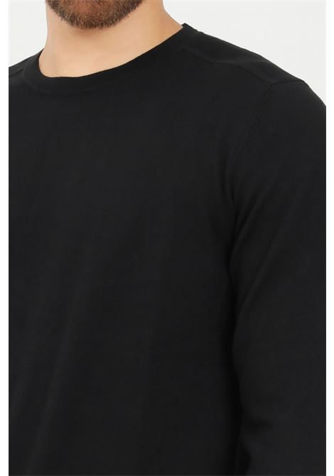 Black men's sweater by selected crew neck model SELECTED | Knitwear | 16074682BLACK