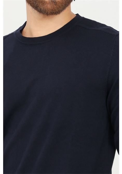 Blue men's sweater by selected crew neck model SELECTED | Knitwear | 16074682NAVY BLAZER