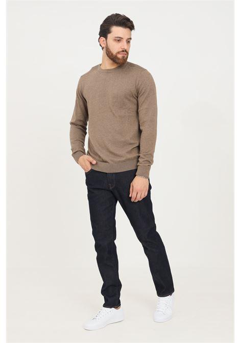 Blue men's slim fit comfort stretch jeans by selected SELECTED | Jeans | 16075649DARK BLUE DENIM