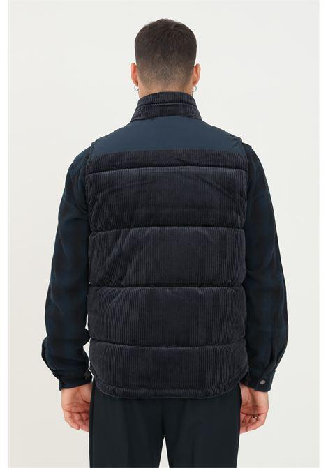 Blue men's duvet by seleted, sleeveless model with ribs SELECTED | Jacket | 16079397DARK NAVY