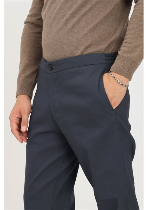 Blue men's trousers by selected casual model with elastic band on the back SELECTED | Pants | 16079733NAVY BLAZER