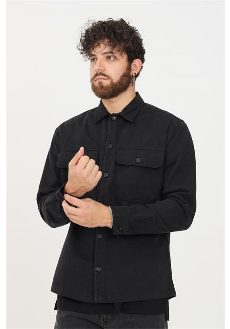 Black men's shirt by selected casual model SELECTED | Shirt | 16080840BLACK