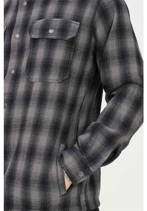 Grey men's shirt by selected closure with press buttons SELECTED | Shirt | 16080849CASTLEROCK