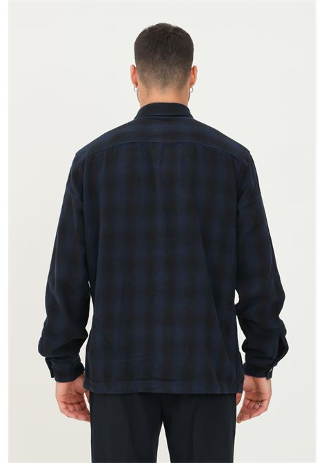 Blue men's shirt by selected closure with press buttons SELECTED | Shirt | 16080849NAVY BLAZER