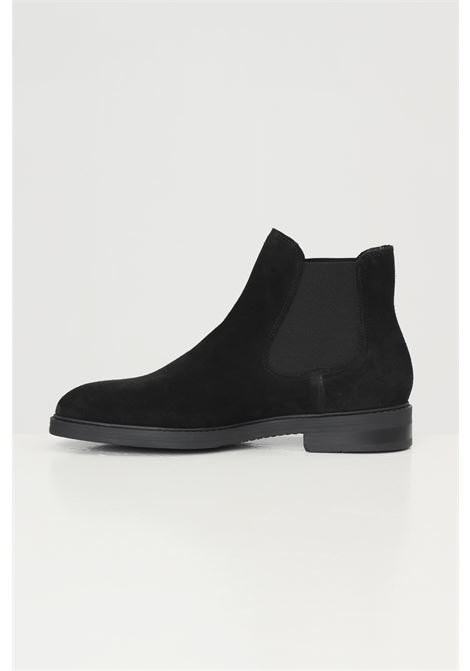 Suede men's ankle boots selected  SELECTED | Party Shoes | 16081456BLACK