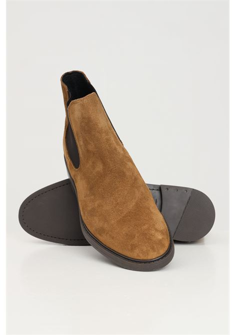 Suede men's ankle boots selected  SELECTED | Party Shoes | 16081456TOBACCO