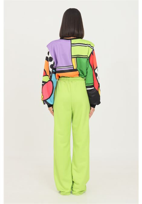 Green women's trousers by shit casual model with elastic waistband SHIT | Pants | SHT007L/N