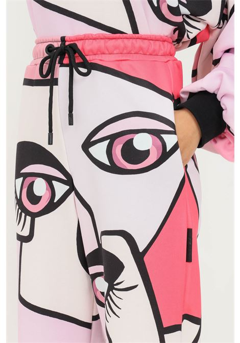 Pink fantasy women's trousers by shit casual model with allover print SHIT | Pants | SHT007PA9