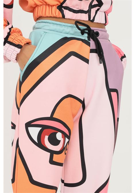 Pink fantasy women's trousers by shit casual model with allover print SHIT | Pants | SHT015PA8