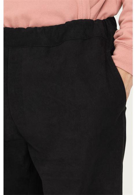 Pantaloni uomo nero silted casual con elastico in vita regolabile SILTED | Pantaloni | CFBVE-BKBLACK