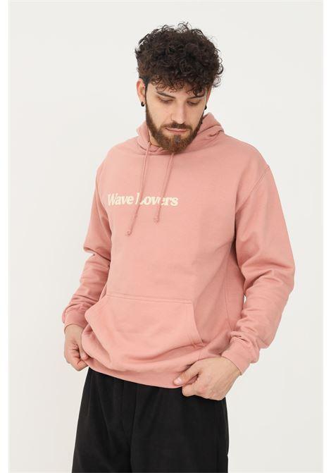Felpa uomo rosa con cappuccio silted con stampa frontale SILTED   Felpe   HDLV-LILILAC