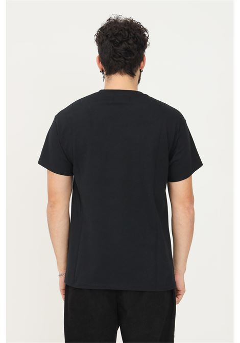 T-shirt uomo nero a manica corta silted con logo frontale SILTED | T-shirt | THLV-BKBLACK