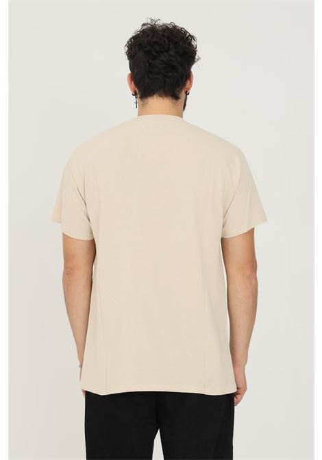 T-shirt uomo sabbia a manica corta silted con logo frontale SILTED | T-shirt | THLV-CRCREME