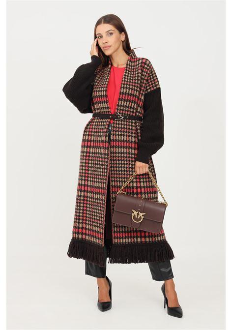 Brown women's cardigan by simona corsellini long cut SIMONA CORSELLINI | Cardigan | A21CPCPE01-01-C02600040519