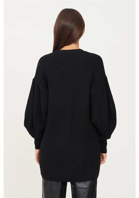 Black women's cardigan by simona corsellini with front pockets SIMONA CORSELLINI | Cardigan | A21CPCRO04-01-C01200130003
