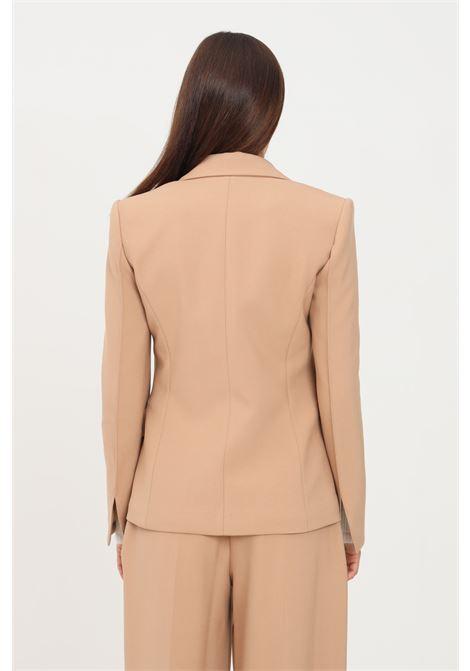 Camel women's jacket by simona corsellini, classic cut SIMONA CORSELLINI | Blazer | A21CPGI007-01-TCAD00210067