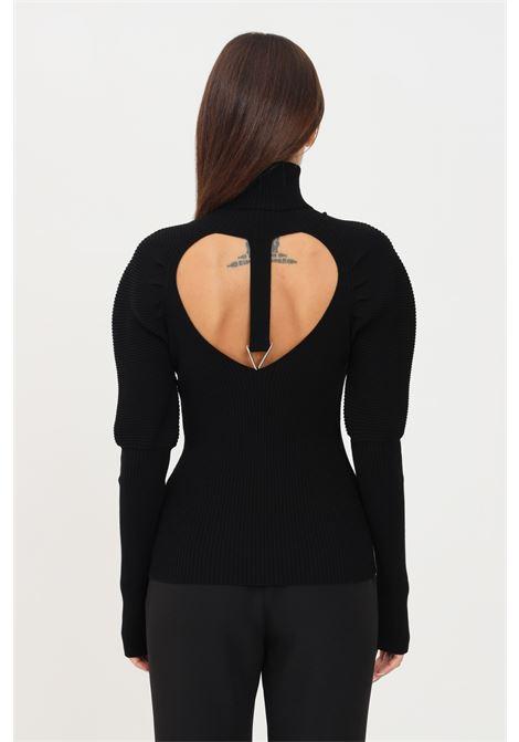 Black women's sweater by simona corsellini high neck SIMONA CORSELLINI | Knitwear | A21CPMGE07-01-C02600010003
