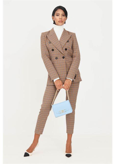 Fantasy women's trousers by simona corsellini elegant model with check print SIMONA CORSELLINI | Pants | A21CPPAR03-02-C00300090517