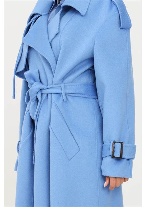 Light blue coat by simona corsellini long cut SIMONA CORSELLINI | Coat | A21CPTHV01-01-C01500030522