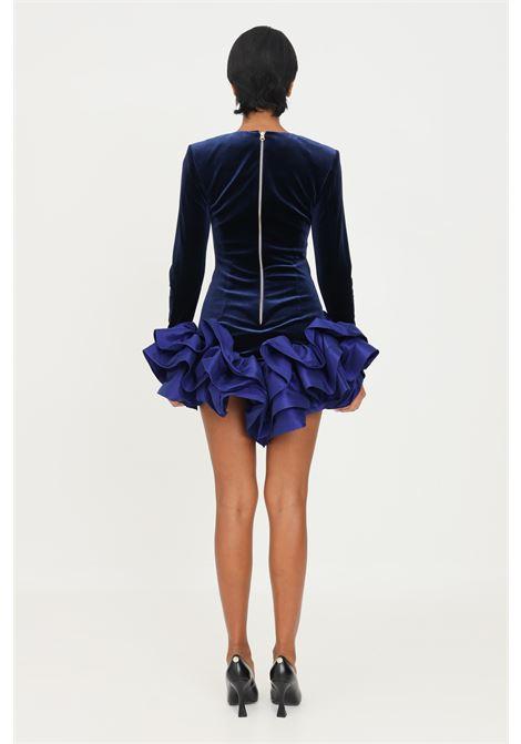 Blue dress by stefano de lellis with velvet effect STEFANO DE LELLIS | Dress | ALICE4