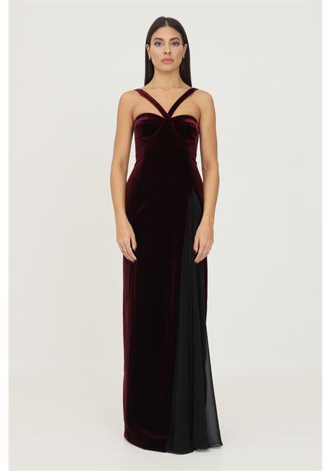 Bordeaux formal dress by stefano de lellis, velvet model STEFANO DE LELLIS | Dress | DORIS.