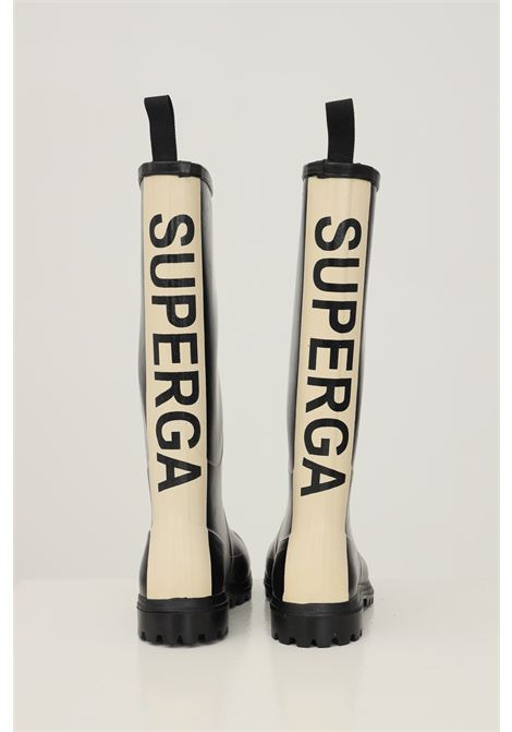 Black women's boots by superga with maxi logo band on the back SUPERGA | Boot | S00G700999