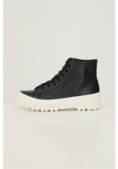 Black women's high alpina nappa sneakers by superga SUPERGA | Sneakers | S41188WA7T