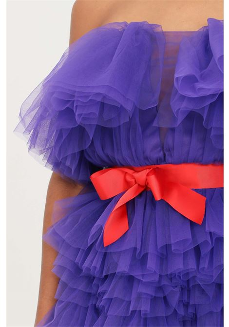 Violet dress by teen idol with belt in toulle TEEN IDOL | Dress | 029777070