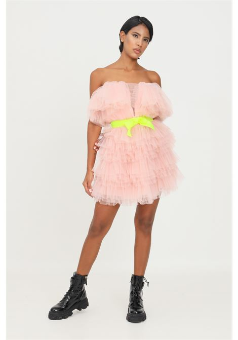 Pink dress by teen idol with belt in toulle TEEN IDOL | Dress | 029777166