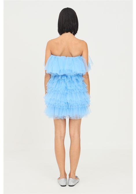 Light blue dress in toulle by teen idol with belt TEEN IDOL | Dress | 029777186