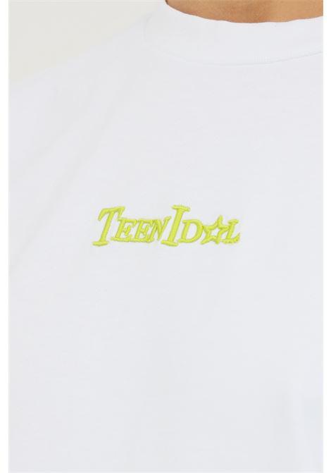 White women's t-shirt by teen idol with back print, short sleeve TEEN IDOL | T-shirt | 029793001