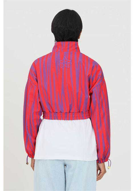 Red violet sweatshirt by teen idol with zip short cut TEEN IDOL | Sweatshirt | 029808200