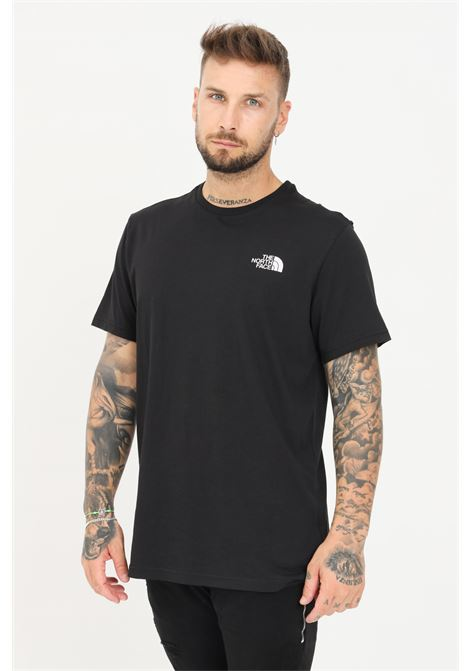 T-shirt uomo nero the north face a manica corta con mini logo a contrasto THE NORTH FACE | T-shirt | NF0A2TX5JK31JK31