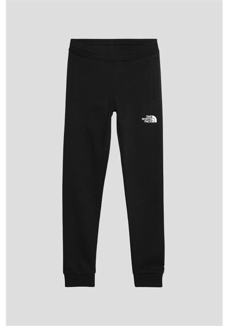 Black baby y fleece pant by the north face with contrasting logo THE NORTH FACE | Pants | NF0A2WAIKY41KY41