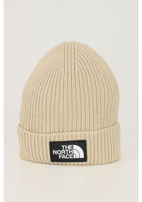 Beige unisex hat by the north face with logo application on the front THE NORTH FACE | Hat | NF0A3FJXCEL1CEL1