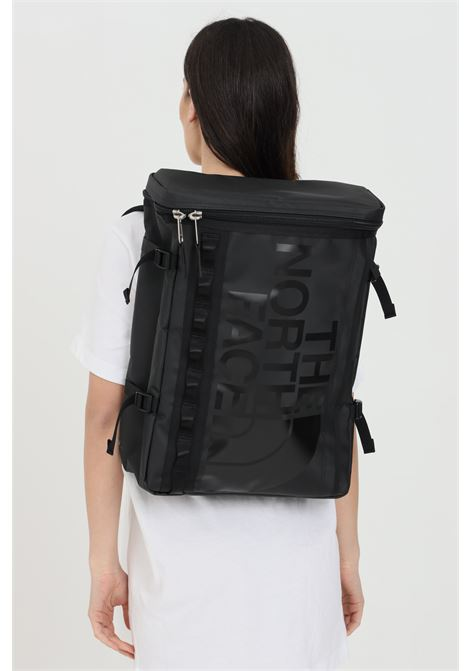 Black backpack in solid color with tone on tone logo on the front, external pocket with zip and inner organizer, padded laptop compartment. The north face THE NORTH FACE | Backpack | NF0A3KVRKX71KX71