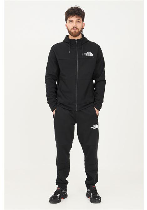 Pantaloni uomo nero the north face casual con logo a contrasto sul davanti e sul retro THE NORTH FACE | Pantaloni | NF0A4SWOJK31JK31