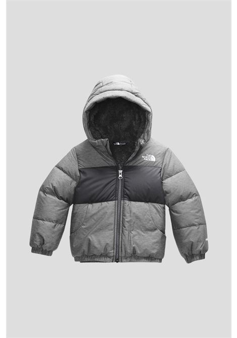 Grey baby down jacket by the north face with hood THE NORTH FACE | Jacket | NF0A4TK9DYY1DYY1
