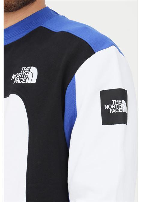 Felpa uomo bianco the north face modello girocollo con ricamo logo a contrasto THE NORTH FACE | Felpe | NF0A55IAFN41FN41