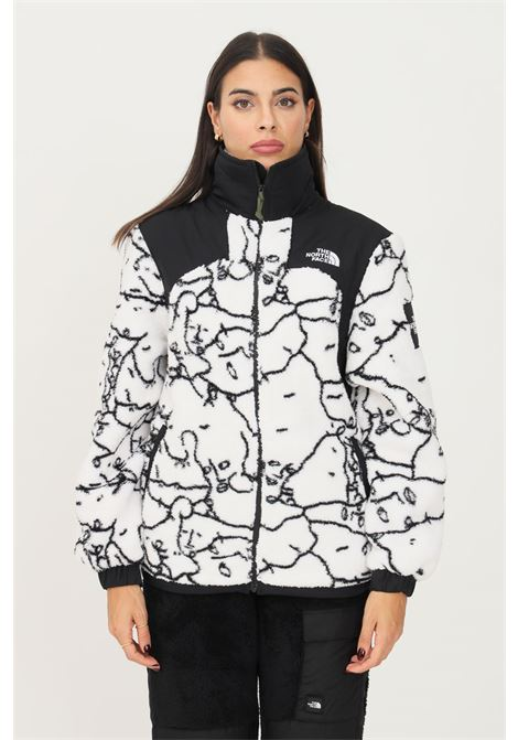 White women's sweatshirt by the norh face with full zip THE NORTH FACE | Sweatshirt | NF0A5ICF26C126C1