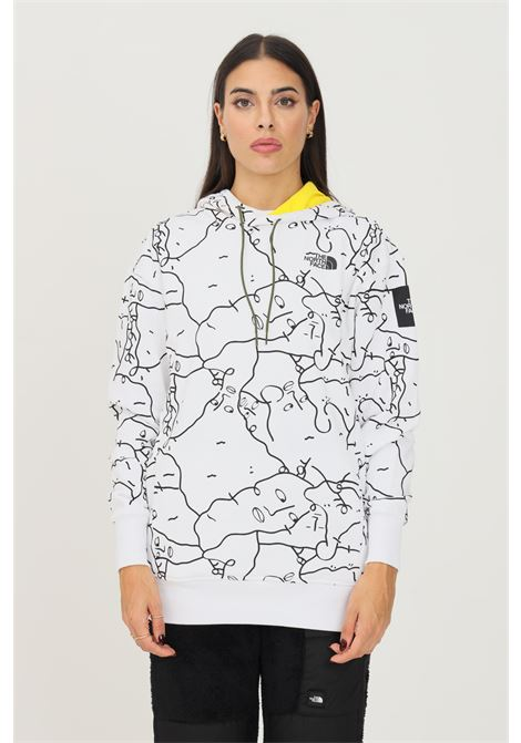 White women's hoodie by the north face with allover print THE NORTH FACE | Sweatshirt | NF0A5ICJ26C126C1