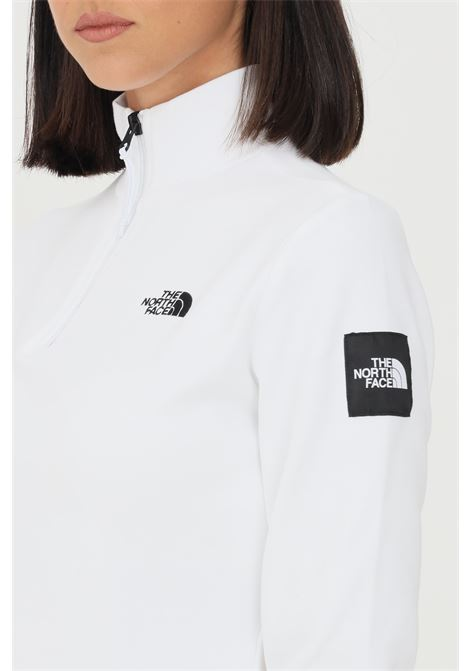 White women's sweatshirt by north face with half zip THE NORTH FACE | Sweatshirt | NF0A5ICUFN41FN41