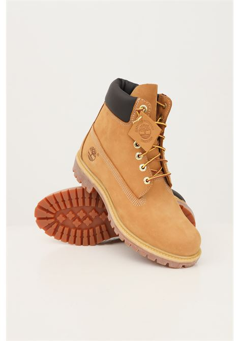 Brown men's boot in leather by timberland  TIMBERLAND | Ankle boots | TB01006171317131